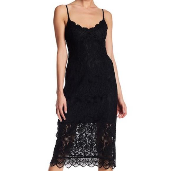 d11dcdb32ff2 NSR size S black lace midi dress